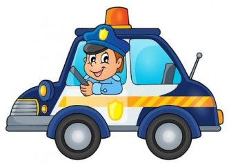 46608960-politie-auto-beeld-thema-1-vector-afbeelding-
